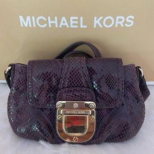 Purple leather Michael Kors purse
